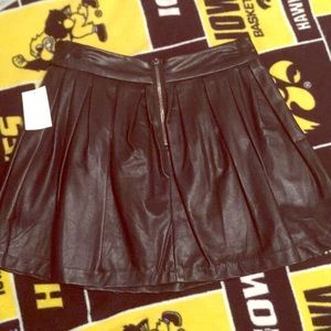 Dresses & Skirts - Pleated Faux Leather Skirt